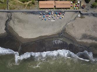 Indonesia, Bali, Aerial view of Yeh Gangga beach - KNTF02104
