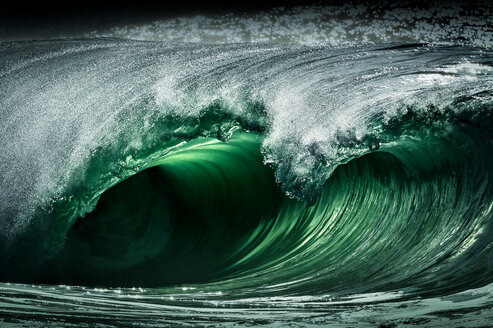 Riley's wave, a giant barreling wave, Kilkee, Clare, Ireland - CUF44874