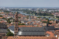 Germany, Baden-Wuerttemberg, Heidelberg, Neckar river, City view with Church of the Holy Spirit - WIF03632