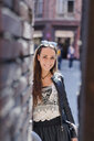 Portrait of fashionable young woman in the city - GIOF04669