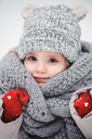 Portrait of a cute girl in the snow during winter - INGF00022