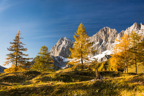 Beautiful scenic view of the Dachstein mountains on a clear day - INGF00097