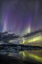 Scenic view of the natural Aurora Borealis during winter at night - INGF00390