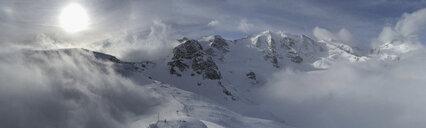 Panoramic view Bermina mountain range, Diavolezza, Switzerland - FSIF03220