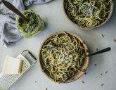 Spaghetti with pesto genovese - MBEF01435