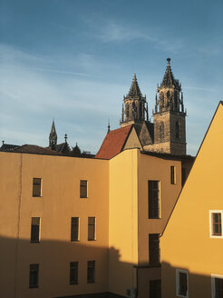 View at cathedral, Magdeburg, Saxony-Anhalt, Germany - ABAF02222