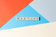 Creative paper background with text meeting - INGF00538