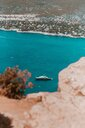 Scenic view of a boat sailing in the blue sea in France - INGF01117