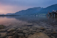 Austria, Salzkammergut, Mondsee at sunset - HAMF00426