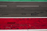 Markings and gully on racetrack - HAMF00438