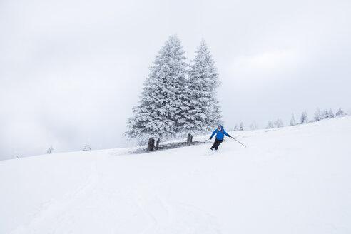 Austria, Salzburg State, Osterhorn Group, skier - HAMF00447