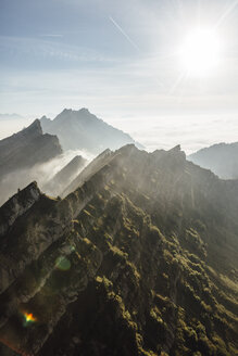 Switzerland, mountains and fog - LHPF00128
