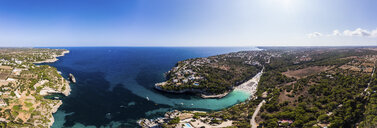 Spain, Balearic Islands, Mallorca, Aerial view of Cala Llombards - AMF06031