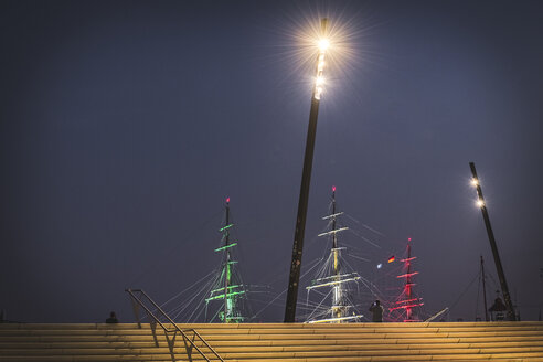 Germany, Hamburg, Hafencity, sail training vessel Amerigo Vespucchi - KEBF00963