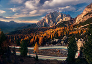 Clouds above the Dolomites mountain range in Italy - LUXF01159