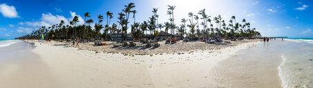 Caribbean, Dominican Republic, Punta Cana, Panoramic view of Playa del Cortecito - AMF06053