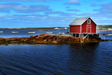 Red cottage on islet - INGF01812