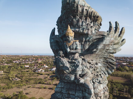 Indonesia, Bali, Aerial view of GWK park, Vishnu statue and Garuda - KNTF02116