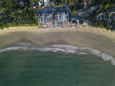 Indonesia, Bali, Aerial view of Jimbaran beach from above - KNTF02128