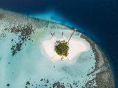 Aerial view of tropical island at Maldives - CAVF49800