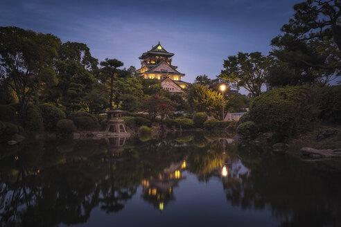 Japan, Kyoto, Osaka Castle at blue hour - EP00497