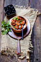 Spanish Albondingas, meatballs in spicy tomato sauce - SBDF03778