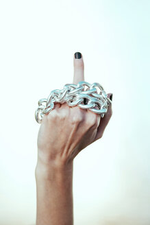 One finger nahd gesture with chain - INGF03247