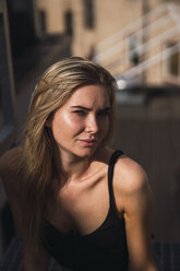 Portrait of blond young woman in summer - KKAF02627