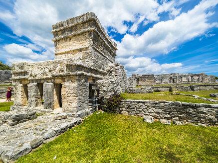 Mexico, Yucatan, Riviera Maya, Quintana Roo, Tulum, Archaeological ruins of Tulum - AMF06097
