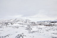 Scenic view of snow covered landscape against sky - CAVF51007