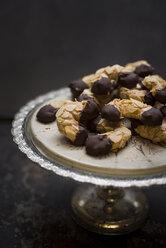 Vegan almond crescents on cake stand - CZF00336