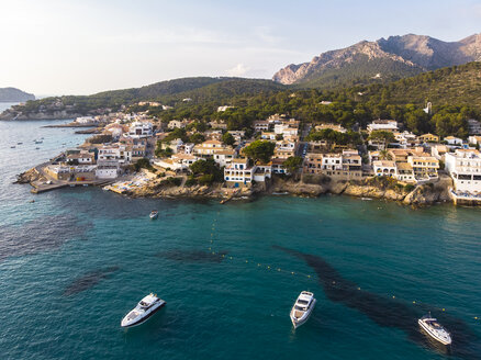 Spain, Balearic Islands, Mallorca, Aerial view of Bay of Sant Elm - AMF06108