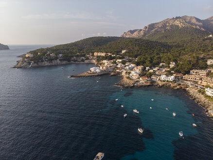 Spain, Balearic Islands, Mallorca, Aerial view of Bay of Sant Elm - AMF06111