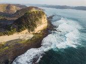 Indonesia, Lombok, Aerial view of coast near Kuta - KNTF02271