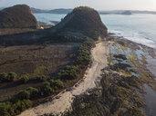 Indonesia, Lombok, Aerial view of coast near Kuta - KNTF02274