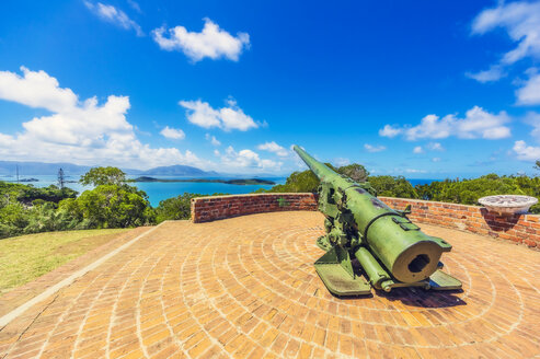 New Caledonia, Noumea, old cannon, viewpoint - THAF02274