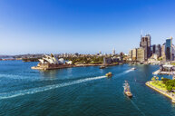 Australia, New South Wales, Sydney, Sydney Opera House and city view - THAF02288