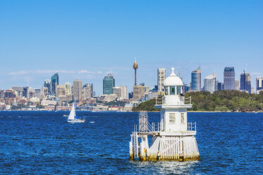 Australia, New South Wales, Sydney, cityview and lighthouse - THAF02318