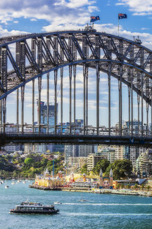 Australia, New South Wales, Sydney, Harbour Bridge and Coney Island, Luna Park - THAF02324