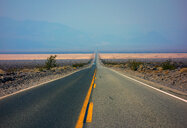 Straight road, cutting through open landscape, USA - ISF20082