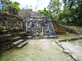 Central America, Belize, Yucatan peninsula, New River, Lamanai, Maya ruin, Lamanai Mask Temple - AMF06117