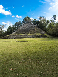 Central America, Belize, Yucatan peninsula, New River, Lamanai, Maya ruin, Jaguar Temple - AMF06123