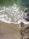 High angle scenic view of waves on shore at beach - CAVF51469