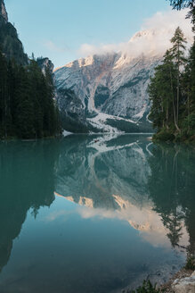 Majestic view of lake against mountains - CAVF51844