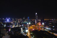 Vietnam, Ho Chi Minh City, Skyline at night - MMAF00639