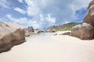 Seychelles, La Digue, Anse Marron with granite rocks - MMAF00690