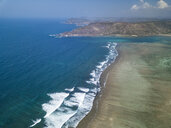 Indonesia, Lombok, Kuta, Aerial view of Seger beach - KNTF02285
