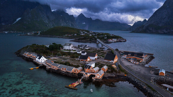 Sakrisoy village on the Lofoten Islands in Norway - LUXF02047