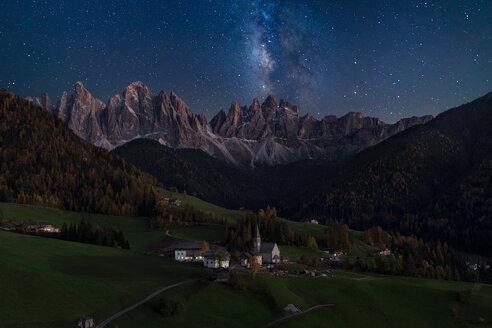 Milky Way above Val de Funes in Italy - LUXF02053