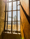 Architectural view of London through a wooden window - INGF05246